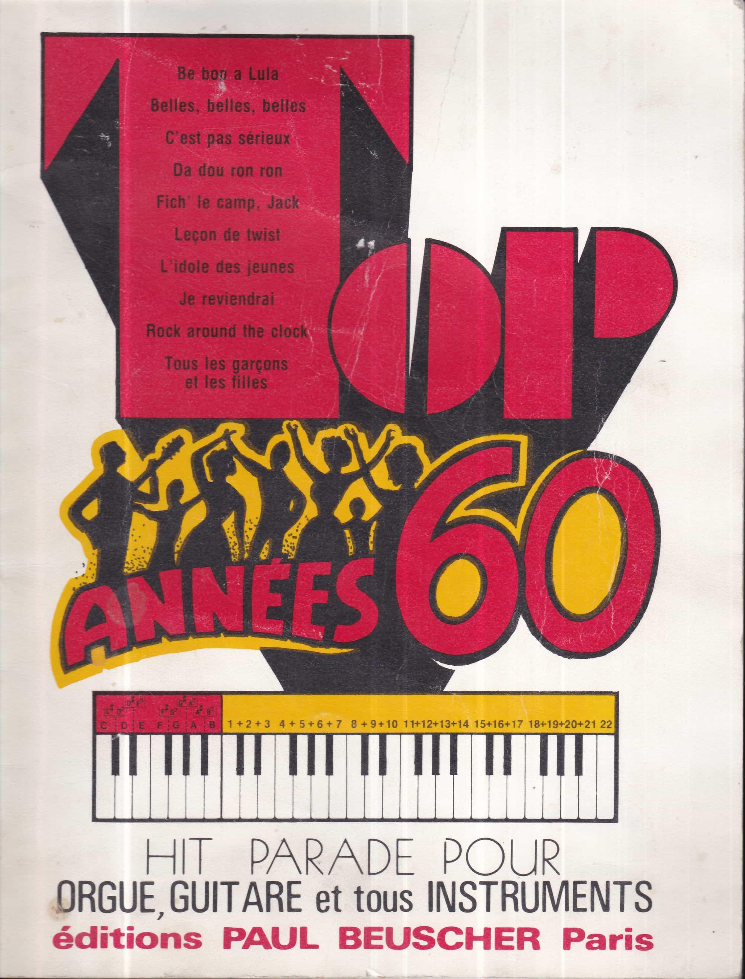 partition guitare annee 60